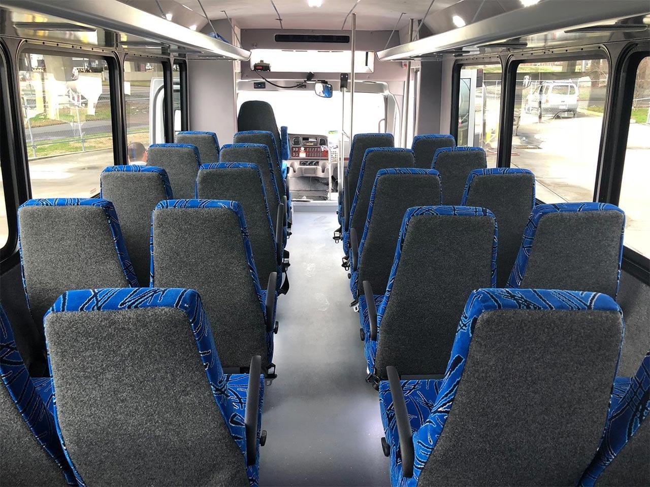 29 passenger minibus inside