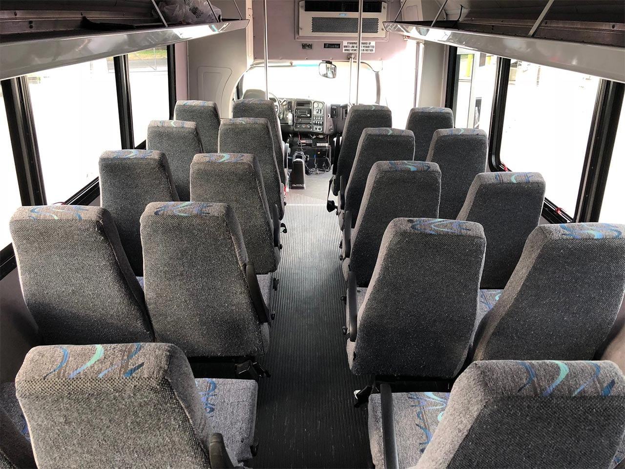 20 passenger Minibus Inside