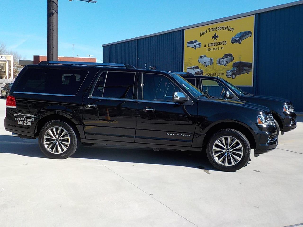 Black 2016 Lincoln Navigator Passengers: 5 Amenities: Leather Seat